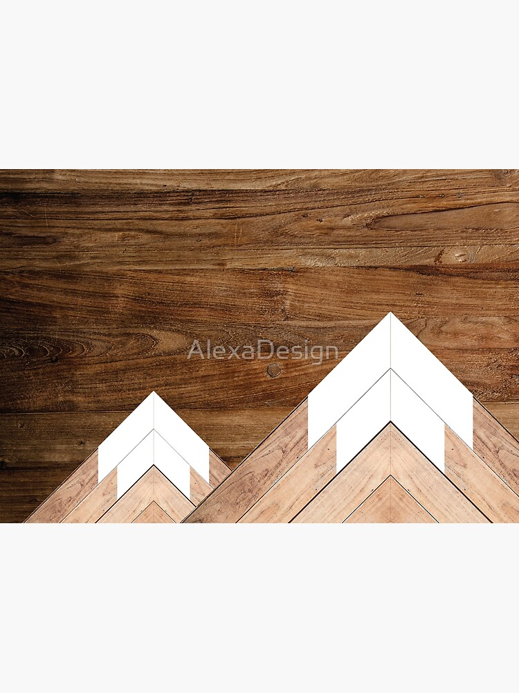 Wooden snow-capped mountains by AlexaDesign