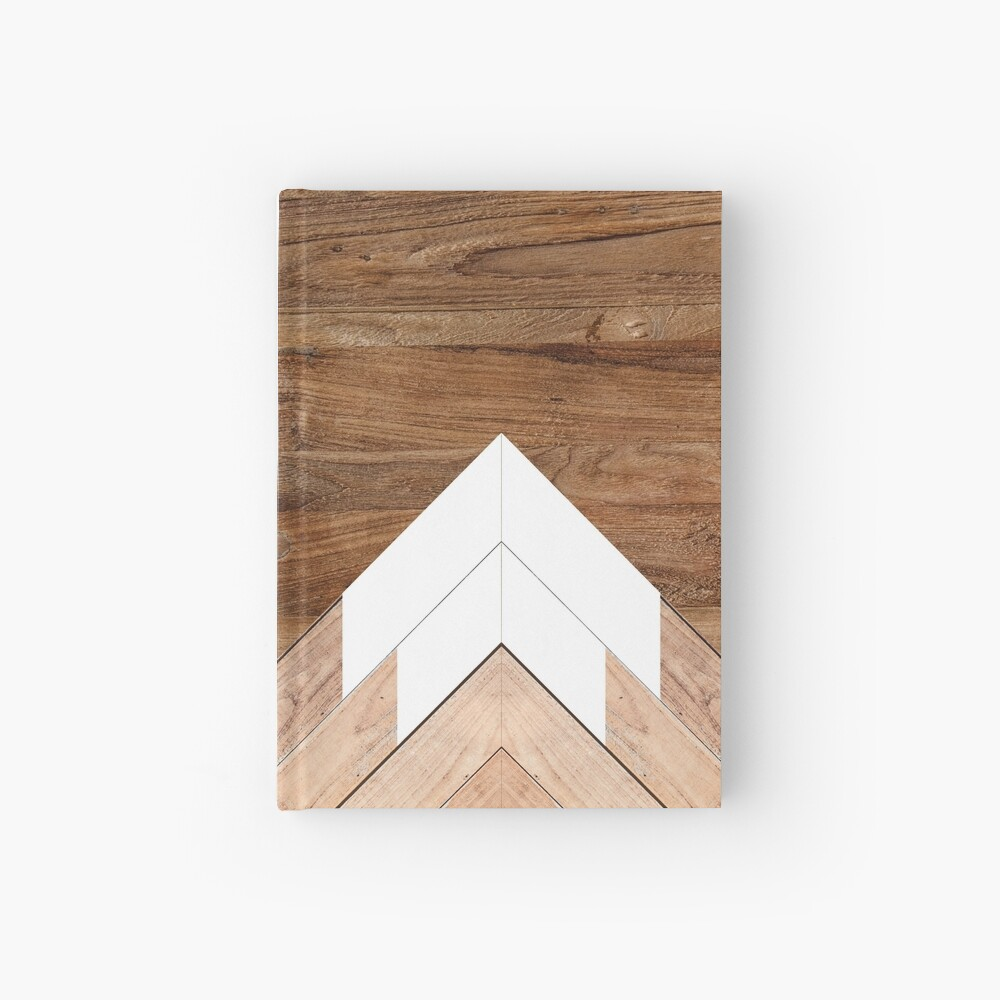 Wooden snow-capped mountains Hardcover Journal