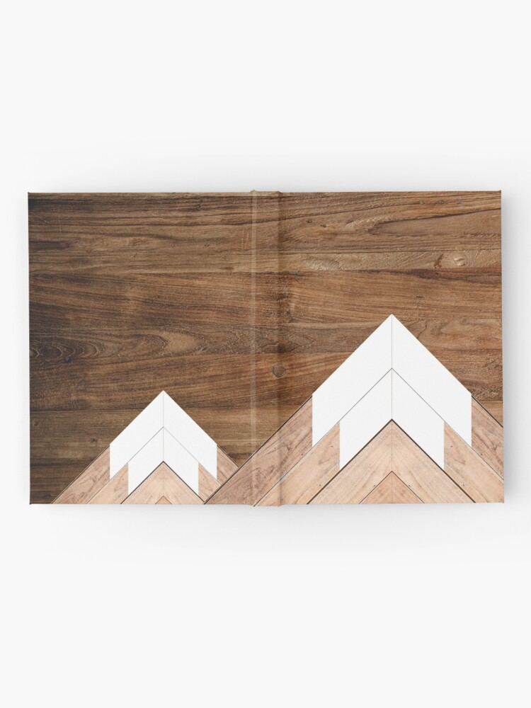 Alternate view of Wooden snow-capped mountains Hardcover Journal