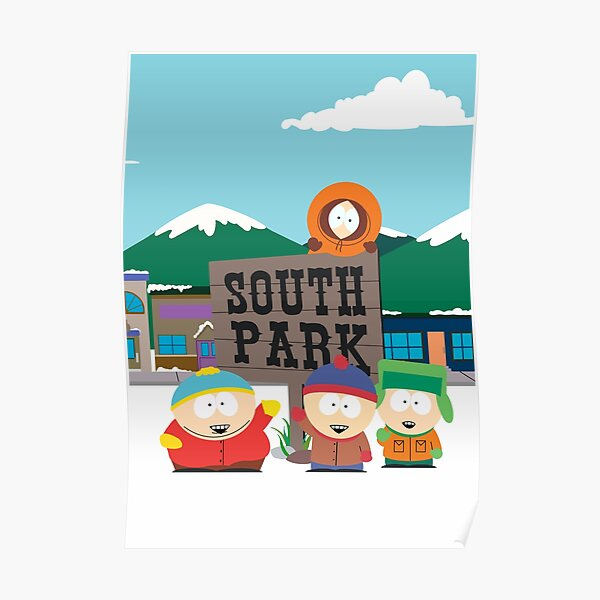 Mounted /& Framed Print South Park Group