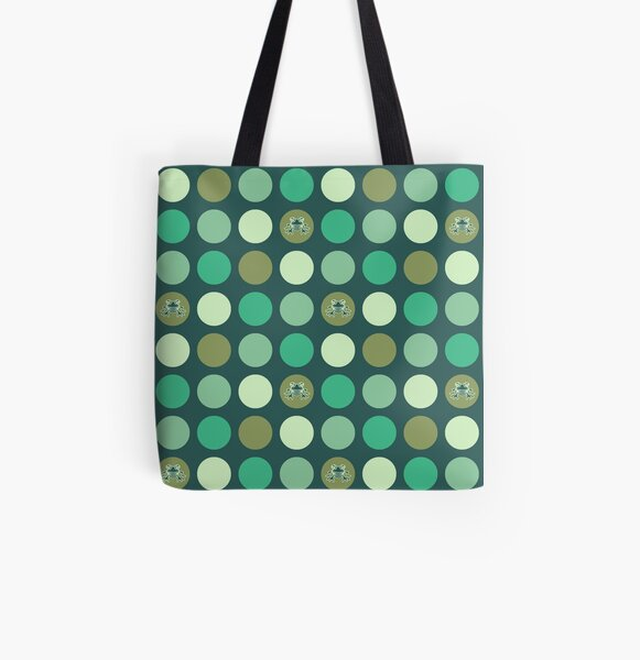 Dotty Wildlife: Frogs All Over Print Tote Bag