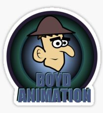 Boyd Animation Logo Glossy Sticker