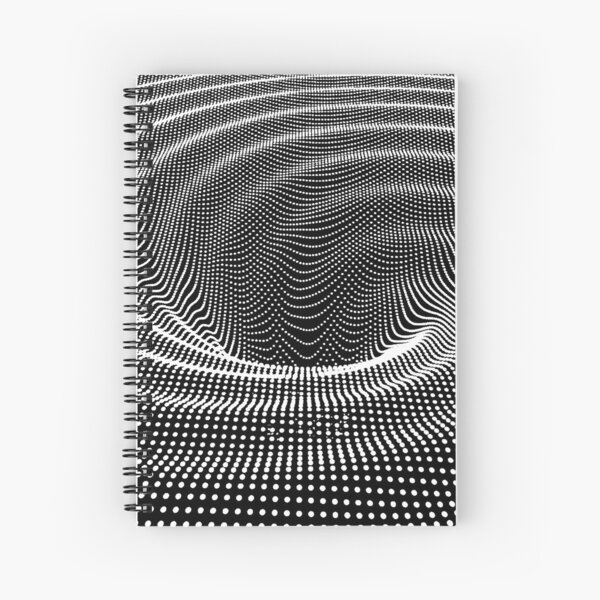 #blackandwhite #photography #monochrome #circle #abstract #pattern #dark #design #rug #spiral #horizontal #blackcolor #inarow #textured #nopeople #backgrounds Spiral Notebook