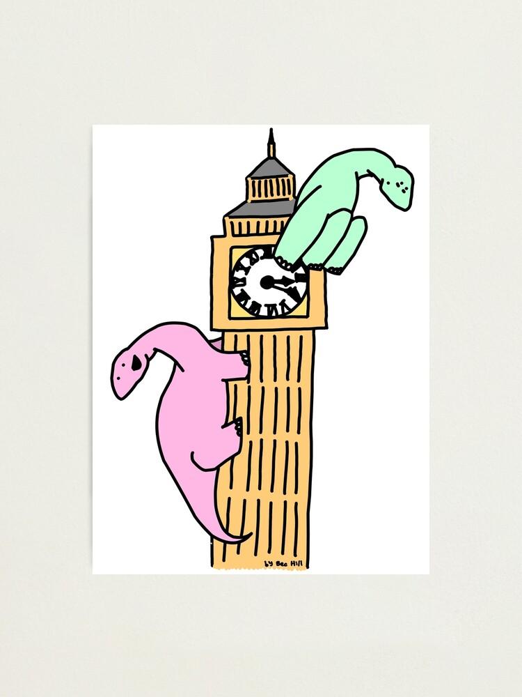 Alternate view of Dinosaurs on Big Ben Photographic Print