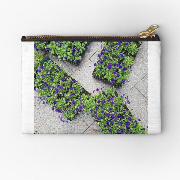 Trays of Purple Flowers Zipper Pouch