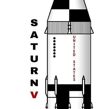 NASA Saturn V (6) Rocket by GeekHappens