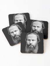 Fyodor Dostoyevsky, portrait Coasters