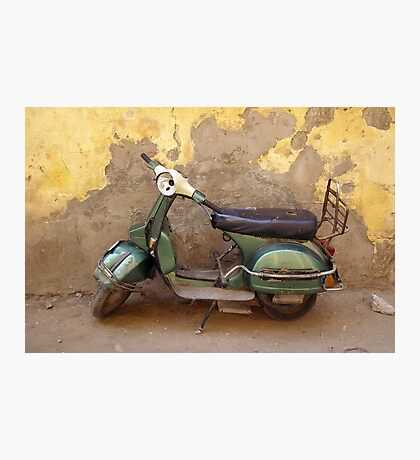 Moped against the wall Photographic Print
