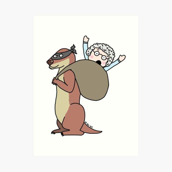Gran Theft Otter Art Print