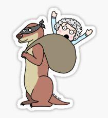 Gran Theft Otter Sticker