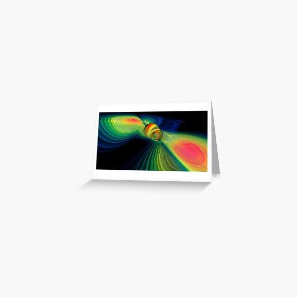 #ComputerSimulation, #signals #GravitationalWaves #MergingBlackHoles #BlackHoles #Компьютерноемоделирование #черныедыры #abstract #design #bright #illustration #rainbow #pattern #motion #shape #art Greeting Card