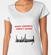 MAGA - Donald J Trump Signature Women's Premium T-Shirt