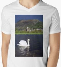 The Swan and the Storm Men's V-Neck T-Shirt