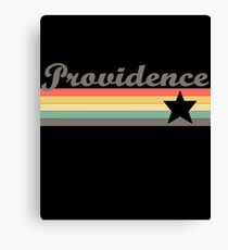 Providence T-Shirt City Vintage Retro 70s Rhode Island Tee Gift Canvas Print