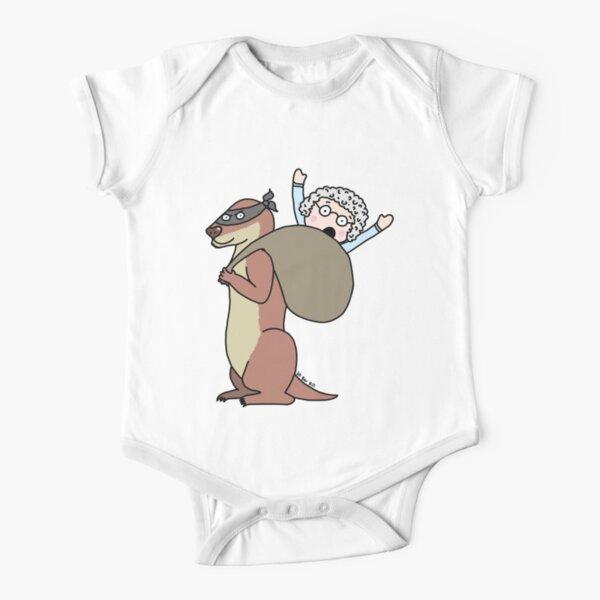 Gran Theft Otter Short Sleeve Baby One-Piece