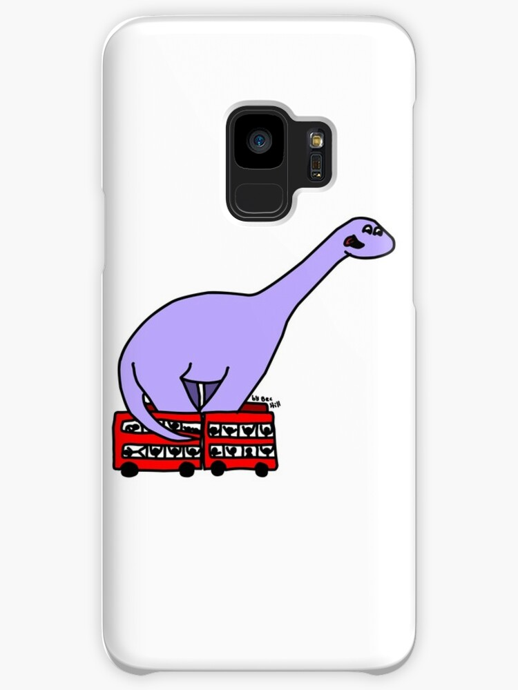 Dinosaur on 4 Double Decker Buses by BecHillComedian