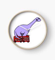 Dinosaur on 4 Double Decker Buses Clock