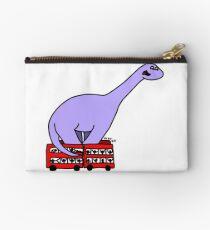Dinosaur on 4 Double Decker Buses Studio Pouch