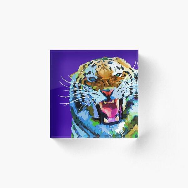 Roaring tiger Acrylic Block