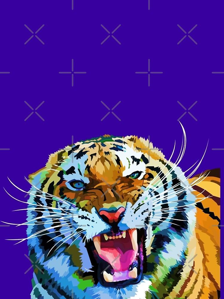 Roaring tiger by Elviranl