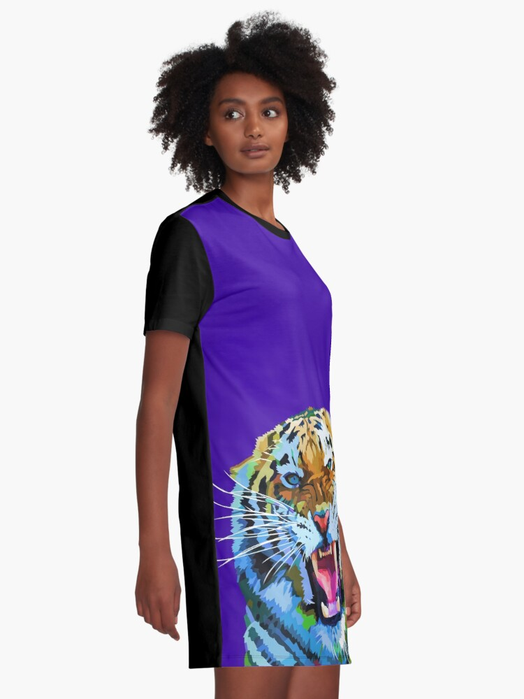 Alternate view of Roaring tiger Graphic T-Shirt Dress