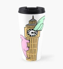 Dinosaurs on Big Ben Travel Mug