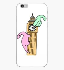 Dinosaurs on Big Ben iPhone Case