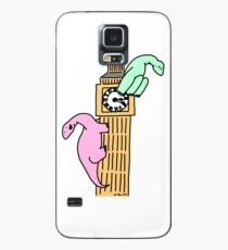 Dinosaurs on Big Ben Case/Skin for Samsung Galaxy