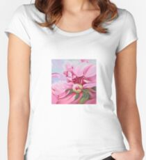 """The Peony"" Women's Fitted Scoop T-Shirt"