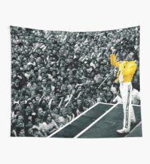 Fredddie Mercury Rock Concert Yellow Jacket Wall Tapestry