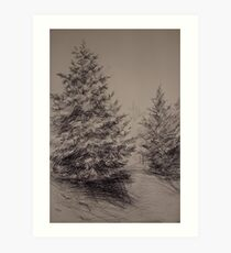 Two Spruces Art Print