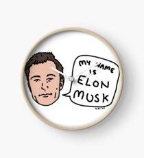 My Name Is Elon Musk Clock