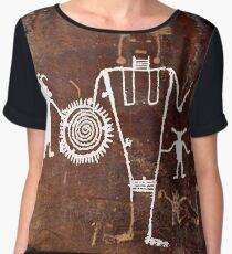 #famousplace #internationallandmark #Vernal #Utah #USA #americanculture #old #ancient #art #rusty #dirty #antique #archaeology #dark #abstract #pattern #rough #tree #architecture #horizontal #Americas Chiffon Top