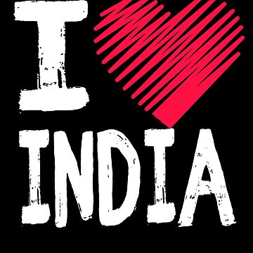 I Love India Traving Shirt by Aewood924