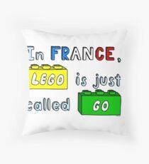 French Lego Throw Pillow