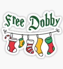 Free Dobby Magical Christmas Stockings Sticker