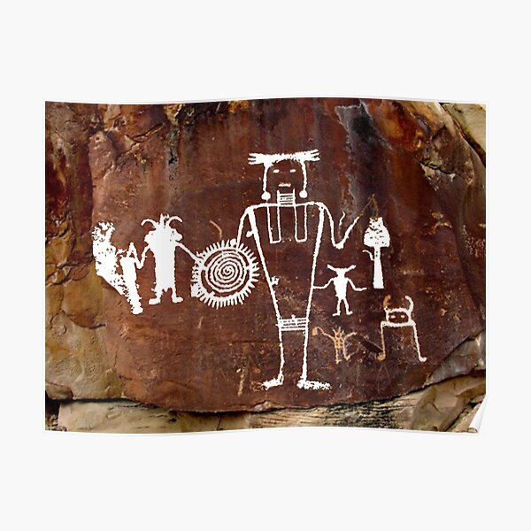 #famousplace #internationallandmark #Vernal #Utah #USA #americanculture #old #ancient #art #rusty #dirty #antique #archaeology #dark #abstract #pattern #rough #tree #architecture #horizontal #Americas Poster