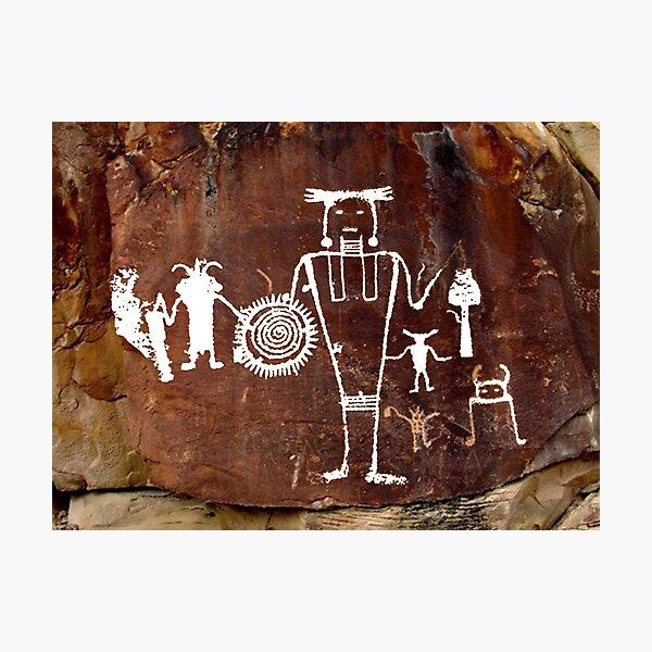 #famousplace #internationallandmark #Vernal #Utah #USA #americanculture #old #ancient #art #rusty #dirty #antique #archaeology #dark #abstract #pattern #rough #tree #architecture #horizontal #Americas Photographic Print