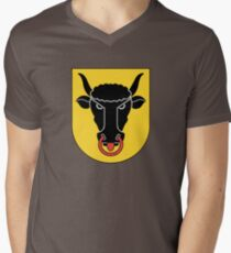 Canton of Uri Coat of Arms, Switzerland Men's V-Neck T-Shirt