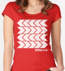 Takoroka Red Vector Tee Women's Fitted Scoop T-Shirt