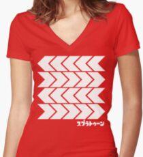Takoroka Red Vector Tee Women's Fitted V-Neck T-Shirt