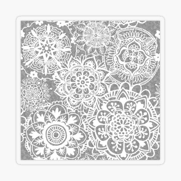 Soft Grey Mandala Pattern Transparent Sticker