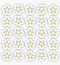 Star Set Minis - In Gelb / Schwarz Sticker