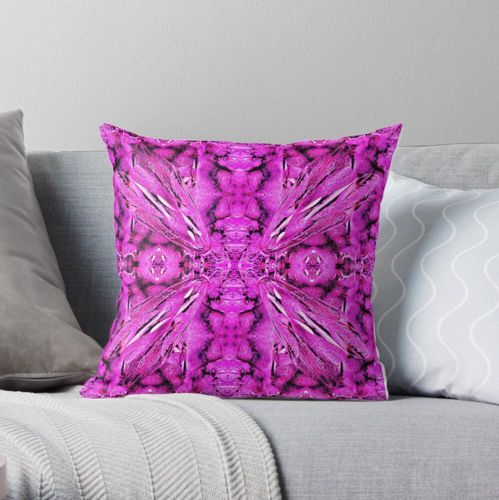 Dried Banksias Pattern in Pink Throw Pillow