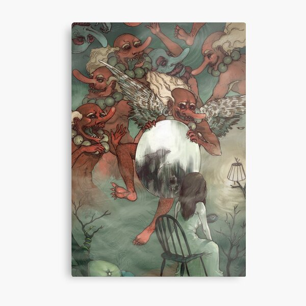 Tengu Metal Print