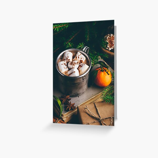 Hot chocolate with marshmallow Greeting Card