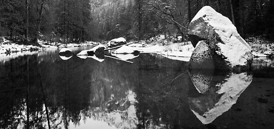 Merced River Panorama by Nickolay Stanev