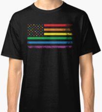 Rainbow American Flag Classic T-Shirt