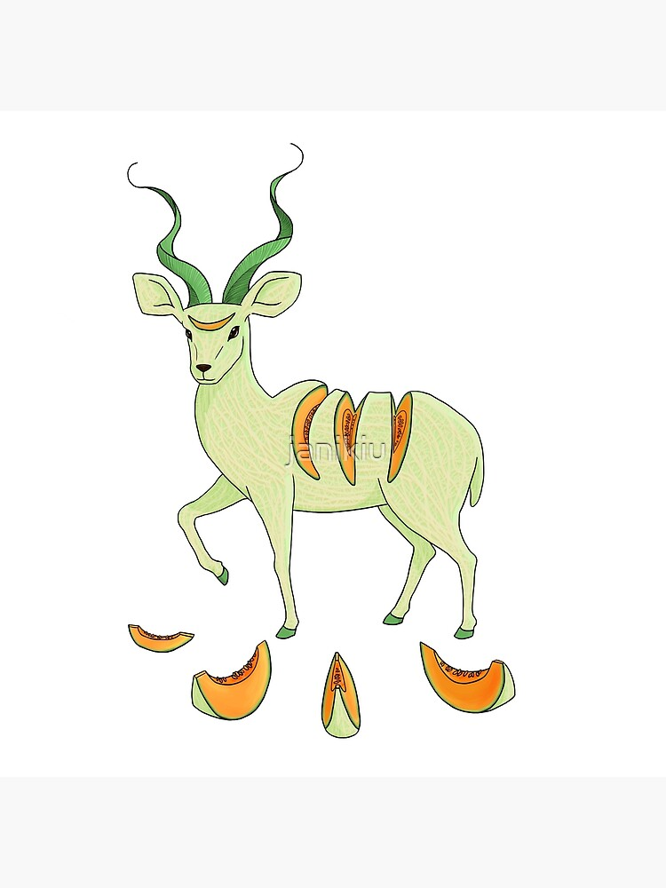 Cantaloupe Antelope Greeting Card By Janikiu Redbubble These fruits aren't difficult to cut or eat. redbubble