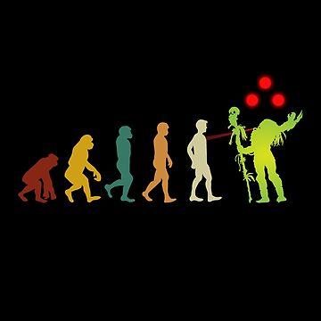 Funny Human Evolution Predator 2019 T-Shirt For Men Women Kids Vintage Retro by SamDesigner
